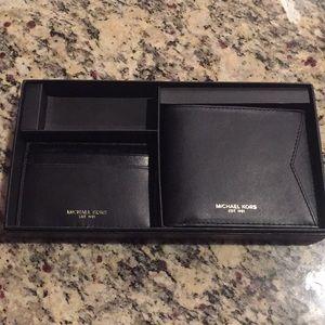 Michael kors men's wallet with card holder